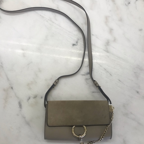 Chloe Handbags - Chloe faye crossbody in motty grey